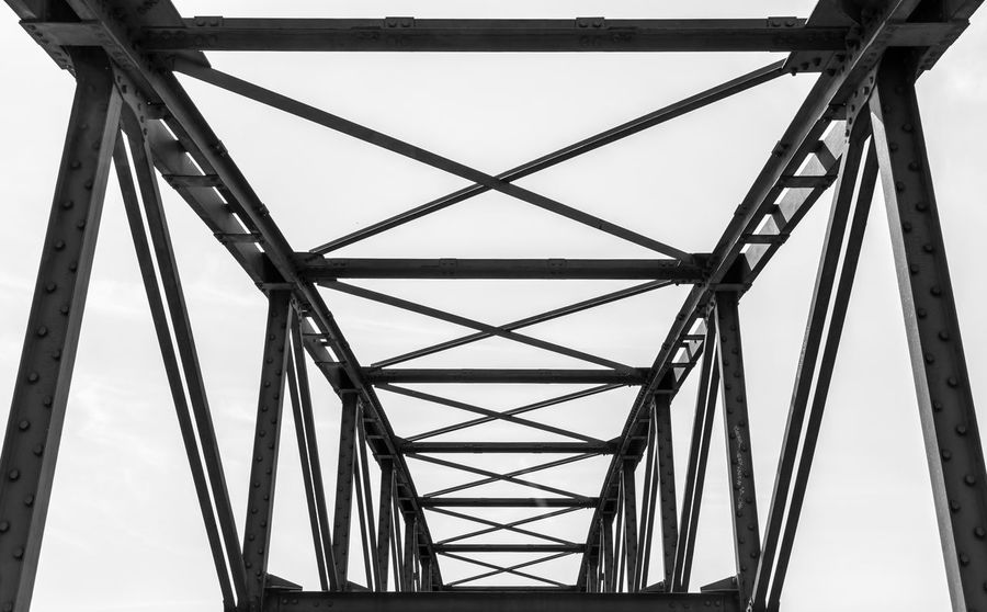 Black & White Charlottenburg  Siemenssteg Alloy Architecture Black And White Bridge Bridge - Man Made Structure Built Structure Connection Day Diminishing Perspective Directly Below Girder Low Angle View Metal No People Outdoors Pattern Sky Steel Strength Tall - High Transportation