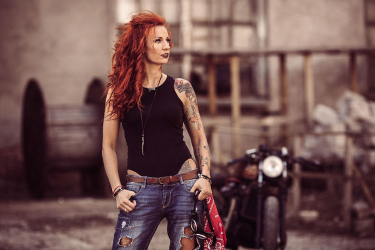 girl with cafe racer motorcycle Cafe Racer Moto Life Motorcycle Motorcycle Girl Old-fashioned Red Head Rock N Roll Beautiful Woman Cafe Racer Motorcycles Front View Hair Lifestyles Moto Motorcycles Old Motorcycle Old Skool One Person Orange Hair Portrait Red Hair Red Hair Woman Red Haired Girl Retro Motocycle Retro Style Women The Portraitist - 2018 EyeEm Awards