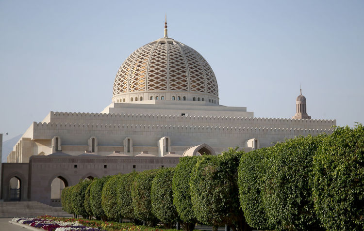 Oman Architecture Building Exterior Built Structure City Clear Sky Day Dome History No People Oman_photo Oman_photography Outdoors Sky Tourism Travel Travel Destinations Tree