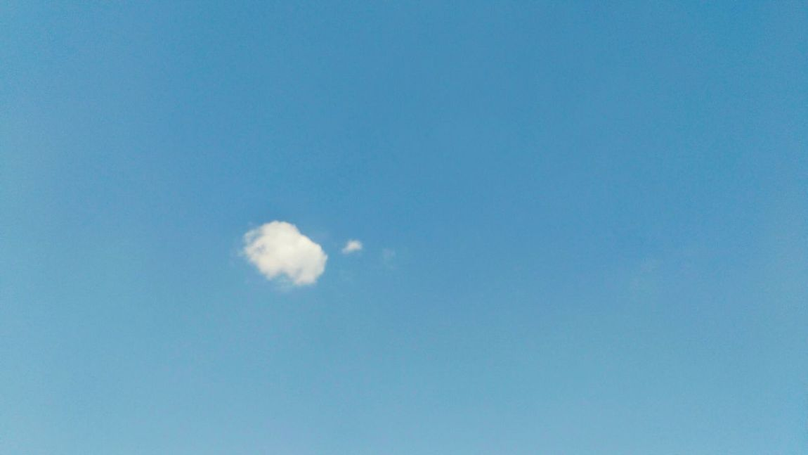 Clouds And Sky Clouds & Sky Sunny Day☀ Clear Blue Blue Clean Air Clean Sky Sky And Clouds Sky Only Phone Edited