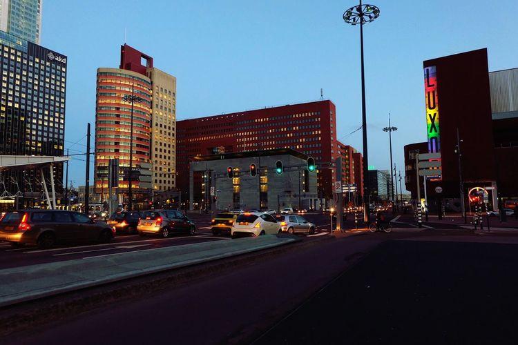 Streetphotography Traffic Rotterdam Rotterdam Architecture Erasmusbrug City Transportation Lights Car Road Sky