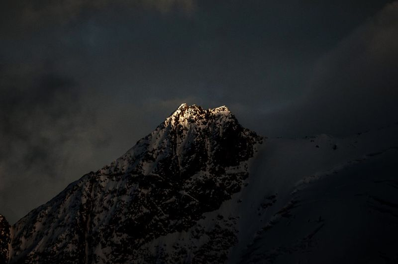 Abendlicht am Bärenbart Mountain Peak Vinschgau Südtirol Alto Adige Light And Shadow Sky Nature Scenics - Nature Beauty In Nature Land Night No People Tranquil Scene Rock Rock Formation