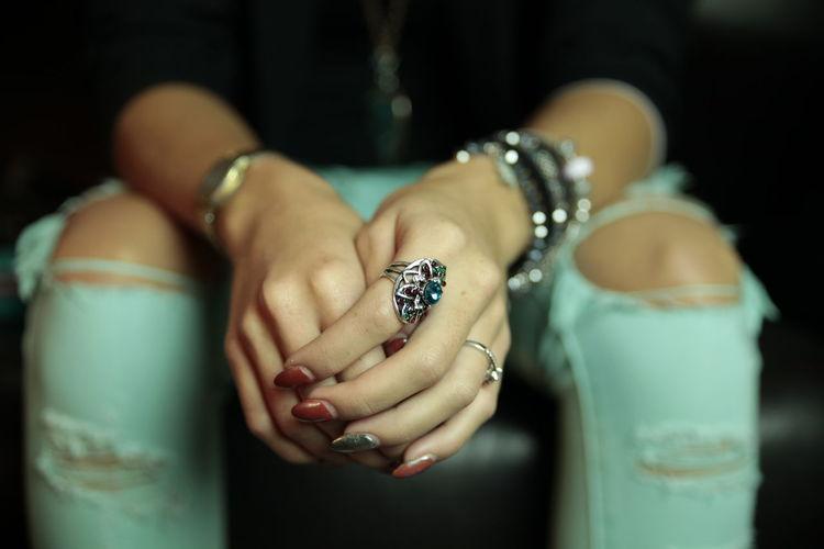 Fashionable Fingernail Focus On Foreground Girl Girls Hands Human Finger Person Ring Rings Fresh On Market 2016