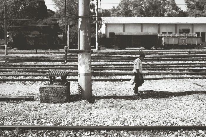 Blackandwhite Black & White Streetphotography Streetphoto_bw Railroad Train Station Istanbul Turkey