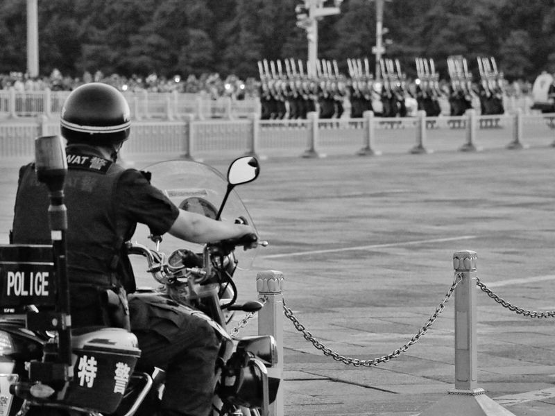 Tian'anmen Square Stand Out From The Crowd The Police