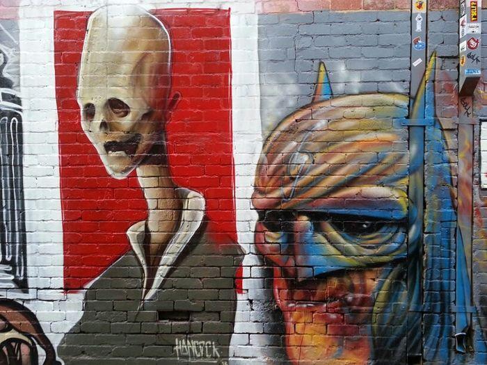 Streetart Batman Hancock Heesco