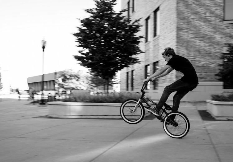 Bike Cycling Motion Blur Wheelie
