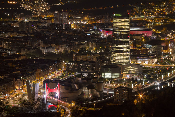 Bilbao at night Bilbao Bilbao - Lights And Colors Architecture Bilbaoarchitecture Bilbaocentro Bilbaoclick Bilbaolovers Building Exterior Built Structure City Cityscape Illuminated Modern Night Outdoors
