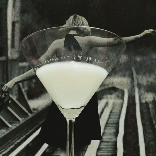 Ditched Bathtub Downthehatch Drink Monochrome Poloroid
