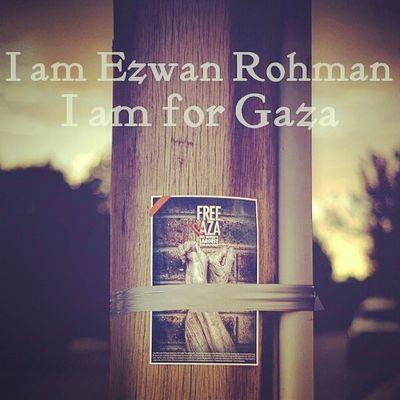I am a muslim , I am Malaysian , and I am a Palestinian too . SaveGaza Pray4gaza Israhell Anti -zionist humanrights humanity