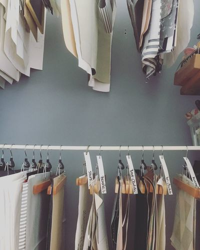 Hanging Clothing Coathanger Variation In A Row Large Group Of Objects Indoors  Clothesline Choice Fashion No People Retail  Laundry Drying Neat Day Atelier Mien Berlin Working Place
