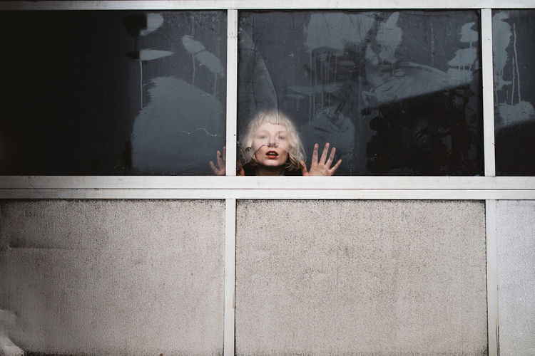 Child Childhood Children Only Day Female Gap Toothed Glass Hamburg Human Body Part Looking One Person Outdoors People Portrait Portrait Of A Woman Prison Real People
