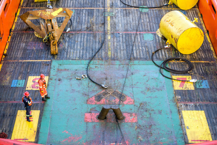 anchor handling on tugboat Oil And Gas Anchor Handling Tugboat Rug Boat Vessel Ship Safety Stern Roller Deck Offshore Offshore Life Construction Barge Installation Able Bodied Seamen Rigger Shark Jaw Rope Wire Buoy Anchor