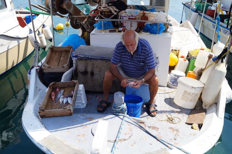 Boat EyeEm Fisherman Holiday Old Man Old Man Of The Sea... Rhodos Vacations