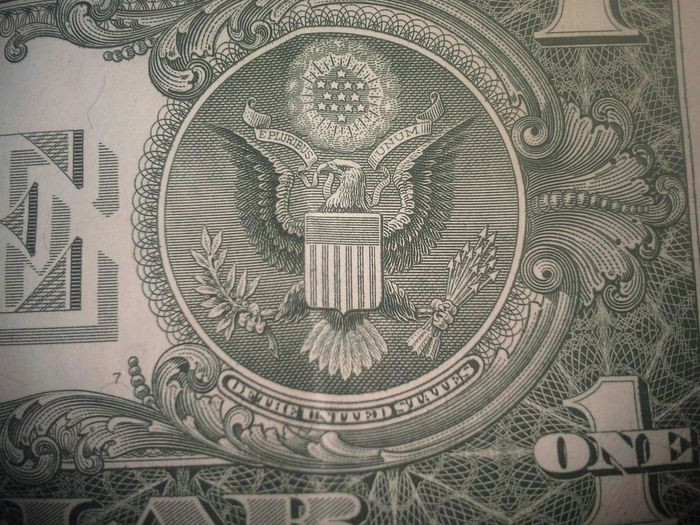 Money One Dollar  $1.00 E Pluribus Unum American Eagle David Tupponce Tupponce Photography Gretna Virginia Usa 13s