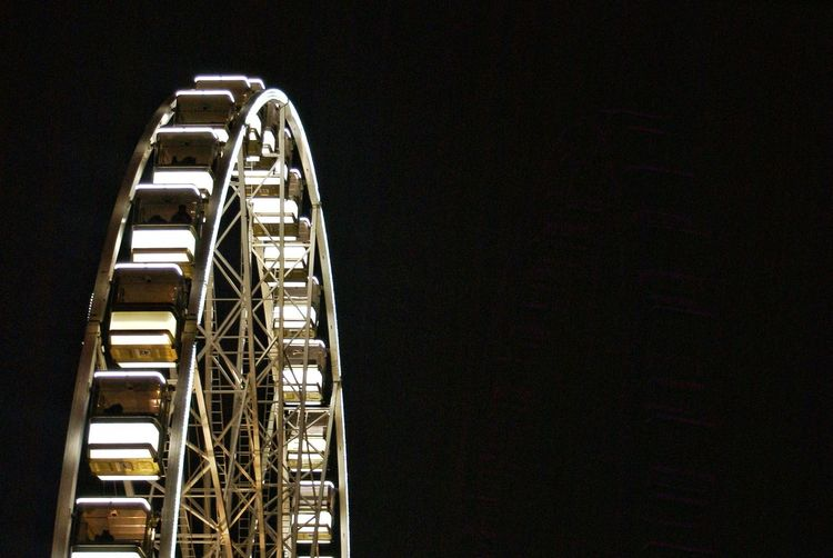 Ferris wheel at night in budapest