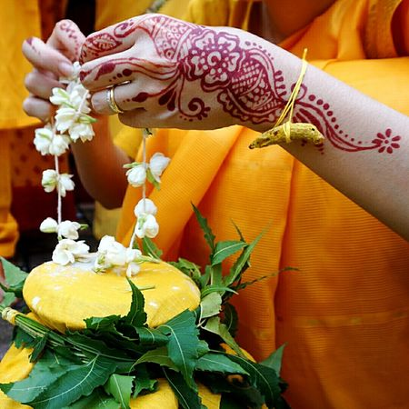 Festival prep Hindu Temple
