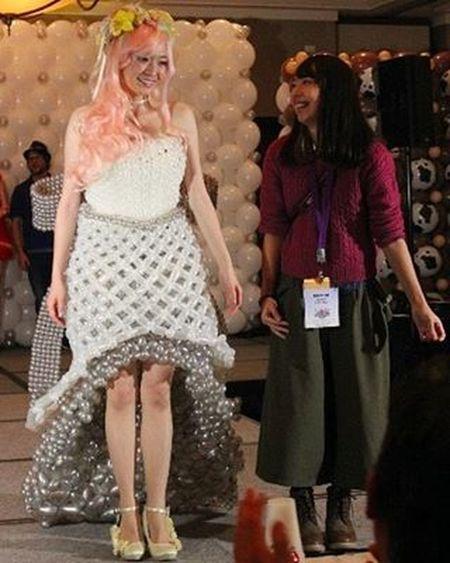 アメリカのダラスで開催中のツイスト&シャウトに参加しています!! とっても楽しい夜でした♡ TwistAndShout Dress Balloondress Competition Convention Balloon Balloonart Nozomi TX USA Japan Model Runway Stage Fashionshow Fashion バルーンドレス ファッションショー ドレス 作品 Dallas
