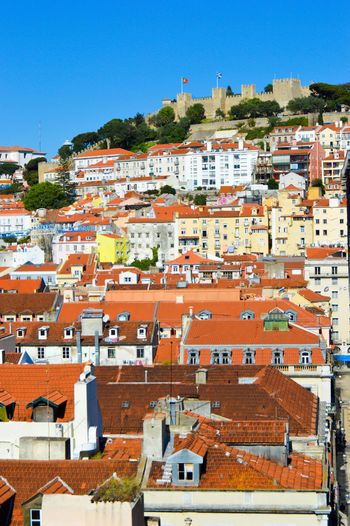 Architecture Building Exterior Built Structure City Cityscape Clear Sky Day Lisbon Outdoors Residential Building Roof Sky Travel Destinations