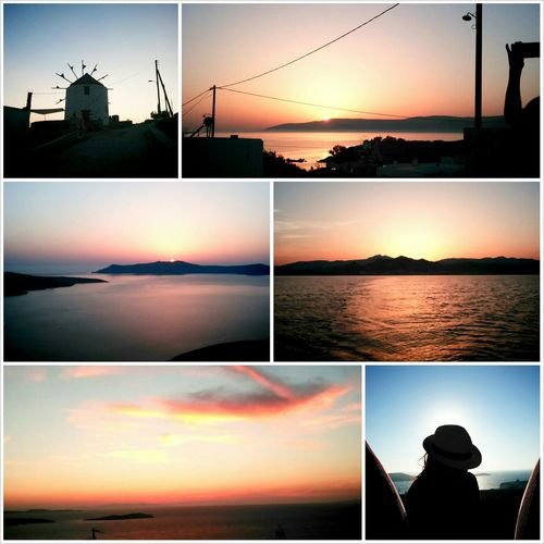 Greek summer and sunsets/sunrises Greece Mikonos Naxos Santorini
