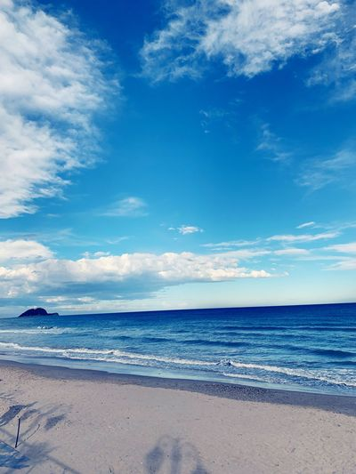 Shadows of blue Sea Water Beach Land Sky Scenics - Nature Beauty In Nature Blue Cloud - Sky Tranquility Tranquil Scene
