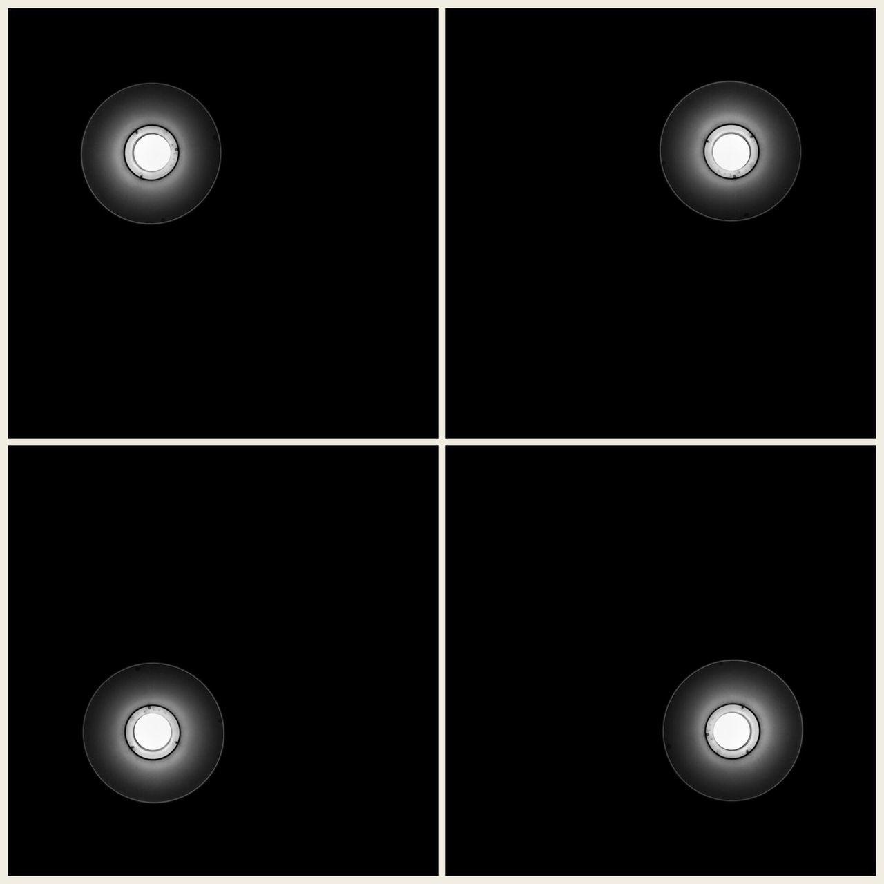 moon, illuminated, lighting equipment, electric lamp, night, collage, spotlight, studio shot, no people, pool ball, multiple image, astronomy