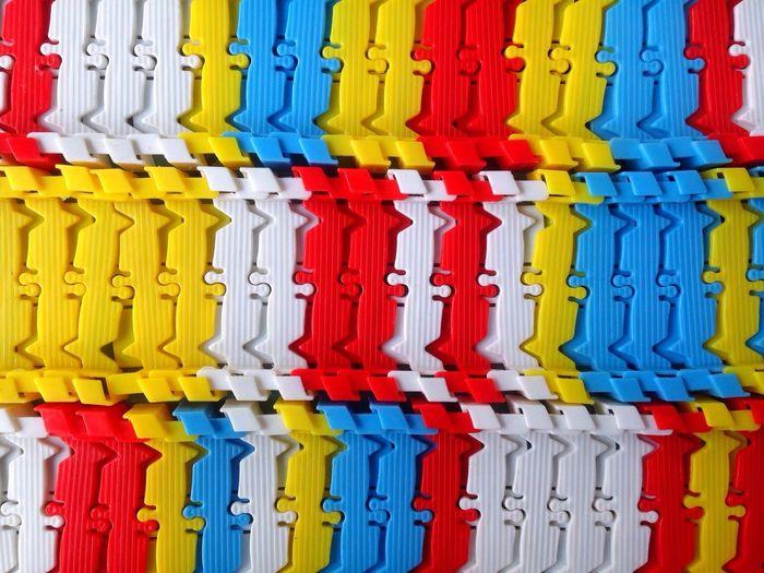 Full frame shot of multi colored plastics