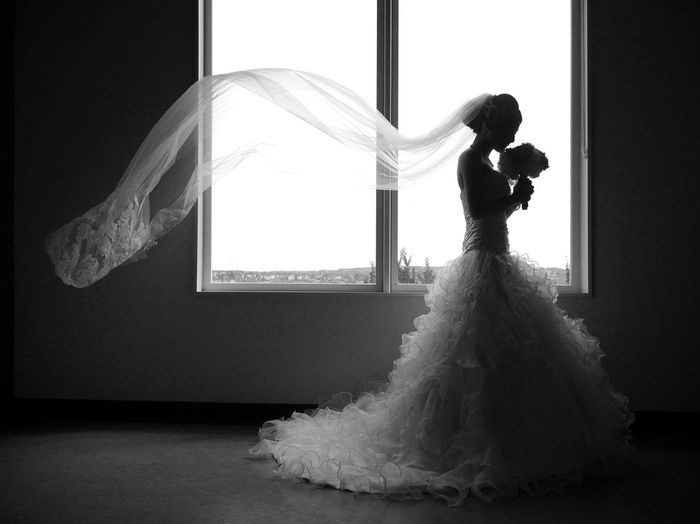 Weddings Around The World Black And White Silhouette Light And Shadow Wedding Photography @ YYC