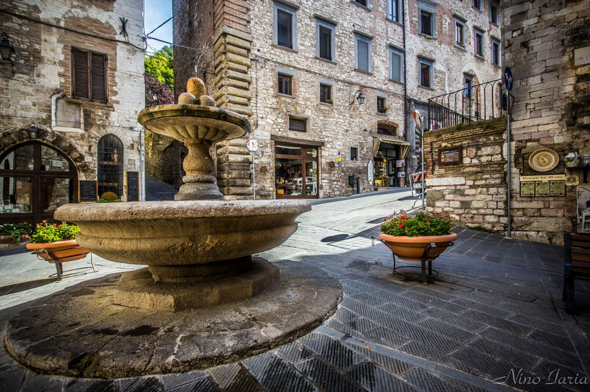 Architecture Travel Destinations Outdoors Fountain No People Day Water Sigma10-20 Italy Canon550D Gubbio, Perugia, Italy