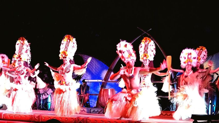 Joyful Traditions Excitements In The Air Enjoyment Vacation Time ♡ Travel Photography Travel Destinations Storytelling Disney Aulani Disney Aulani Cultures And Tradition Dance Luah Hawaiian Style Hawaiian Beauty Aloha World Night Illuminated EyeEmNewHere Arts Culture And Entertainment Outdoors Architecture Celebration Creativity Decoration Built Structure Light