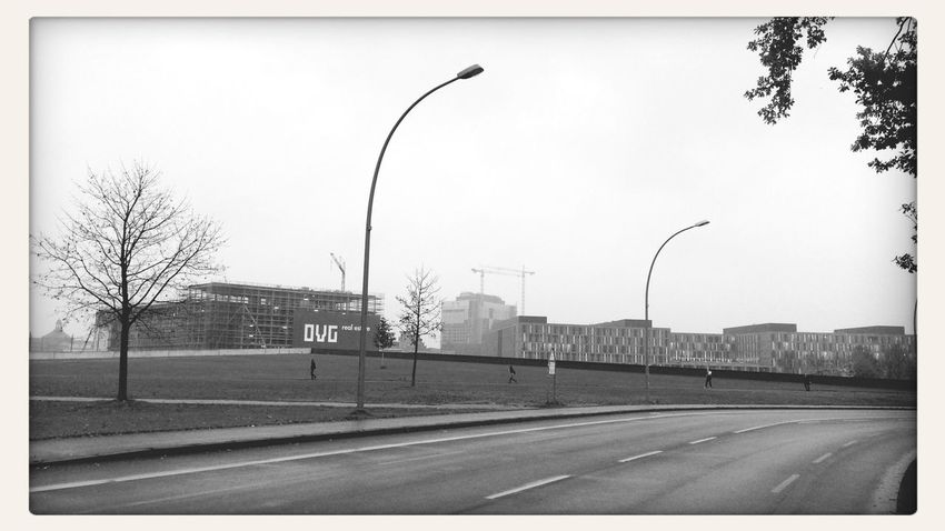 Urban Enclosures Real Estate Lerone-doc New Berlin The Empty Center Blackwhite Road To Nowhere Negative Space People In Geometries Throw A Curve