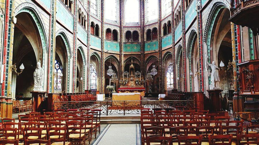 Catholic Church Catholic Multi Colored Pattern Architecture Built Structure