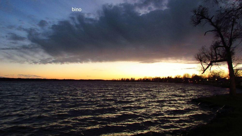Late Evening Sky Around The Lake Windy As Hell!! Dramatic Sky Sunset Lake Cadillac Pure Michigan