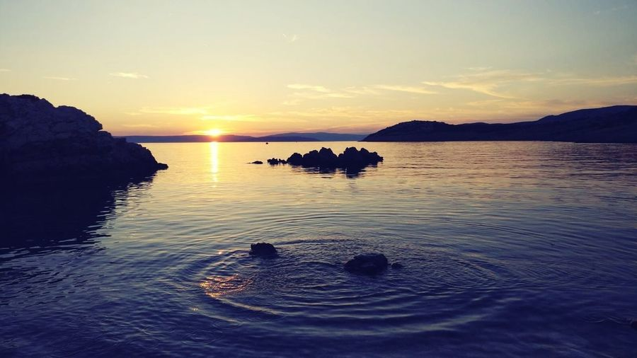 Sunset Water Sky Sunset Scenics - Nature Beauty In Nature Tranquil Scene Tranquility Sea No People Idyllic Nature Reflection