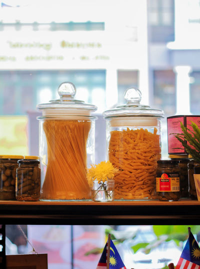 Glass of jar for sale at store