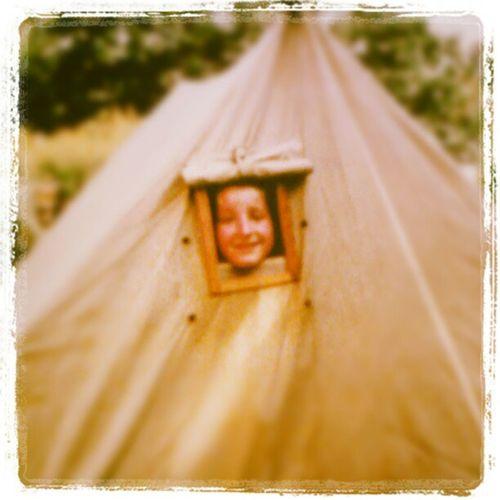 Aus dem Zelt im