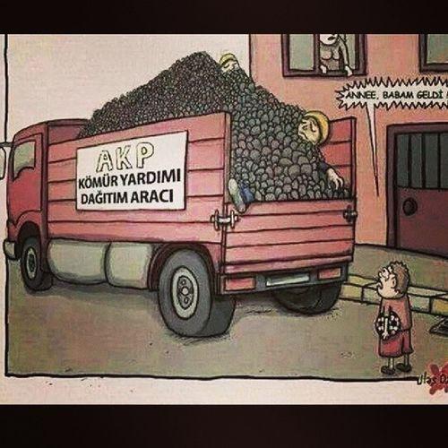 Yorumsuz bi karikatür.. Soma BirAvuçKömürİçinBirÖmürVerenler 274CAN