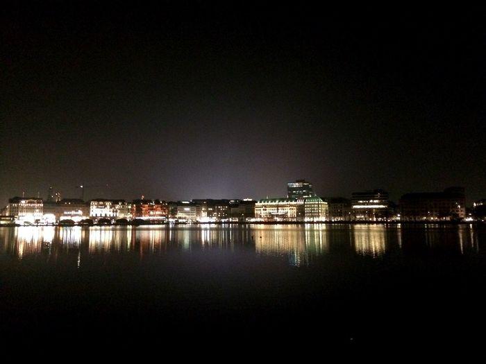 Hamburg Jungfernstieg Night Nightshot