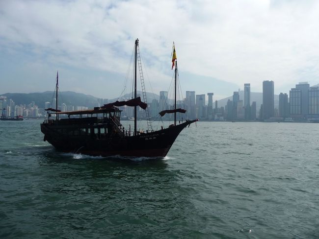 City Cloud - Sky Day Junk Junk Boat Mode Of Transport Nature Nautical Vessel No People Outdoors Sea Sky Transportation Water