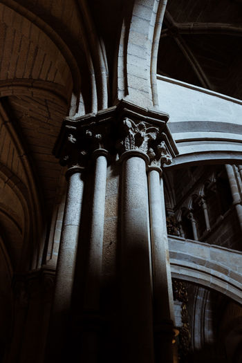 Threeweeksgalicia Architecture Built Structure No People Day Low Angle View Place Of Worship Religion Indoors  Architectural Column History The Past Belief Spirituality Art And Craft Sculpture Craft Representation Creativity Ornate