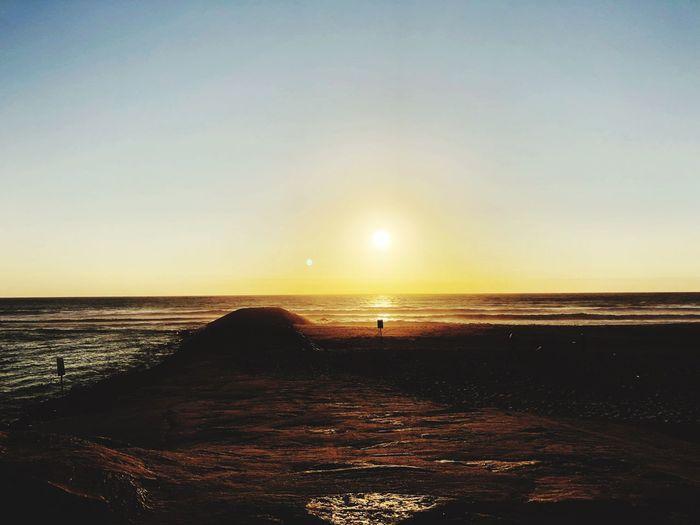 Sky Water Sea Scenics - Nature Sunset Horizon Horizon Over Water