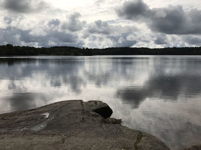 Water Sky Cloud - Sky Nature Tranquility Tranquil Scene Lake No People Reflection Beauty In Nature Scenics Outdoors Day Tree Landscape Swedish Nature Sweden EyeEm Gallery Mölndal Sisjön Nature Photography Lake View