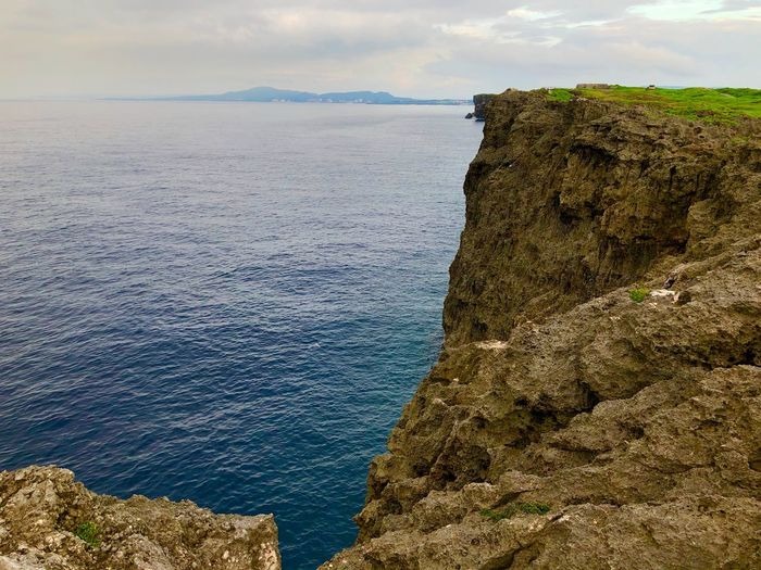Cliff Seascape Okinawa Water Sea Beauty In Nature Sky Scenics - Nature Tranquil Scene Rock Nature Rock Formation Solid