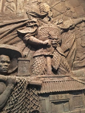Chinese Warrior Sculpture at Shenzhen Museum - China Sculpture Traditional Chinese Traditional Culture History Chinese Warrior Fresco Artifact Ancient Art Art China Shenzhen Chinese Museum Shenzhen Museum Chinese History Chinese Sculpture