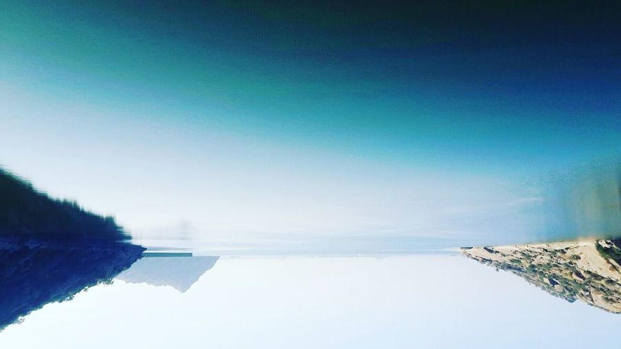 Sometimes the creativity makes lots of sense beyond the thinking ..Reflection_collection Lakescape Horizon Reflections And Shadows Sky Watermeetsthesky UpsideDownShot Headhigh