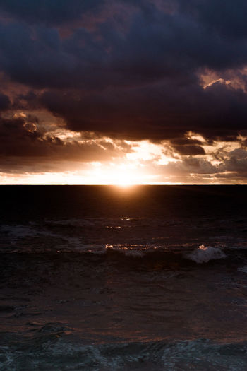 Second light. Beach Beauty In Nature Cloud - Sky Day Horizon Over Water Idyllic Nature No People Outdoors Scenics Sea Sky Sun Sunlight Sunset Tranquil Scene Tranquility Water Wave