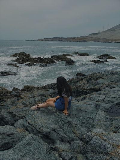 sea Young Women Sea Full Length Water Beach Beauty Lying Down Sand Beautiful Woman Women
