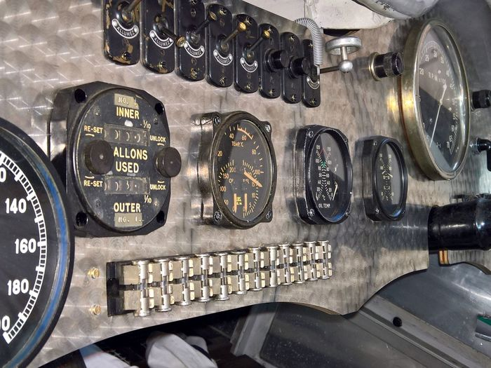 Car Car Exhibition Close-up Cockpit Control Dashboard Exibition Land Vehicle Legendary Legendary Car Machinery Metal Oldtimer Race Racecar Rolls Royce Rolls Royce Hurricane Speedometer Technology Vehicle Interior Vehicle Part