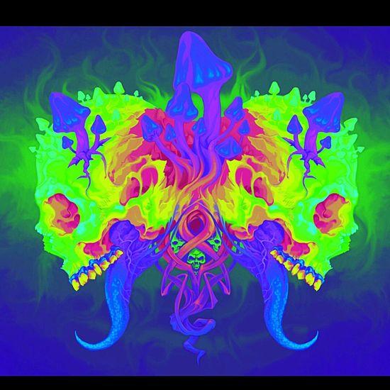 Color Color Portrait Mixcolour Skeleton Skeletons Drawing Color Explosion !! Fluorescent Fluo