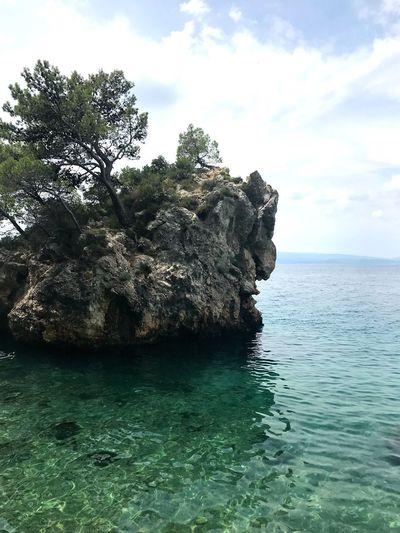 Punta Rata Brela  Sea Mountain Beauty In Nature Photography PhonePhotography IPhoneography Holiday Travel Croatia Sky Water Sea Cloud - Sky Scenics - Nature Tranquility Nature
